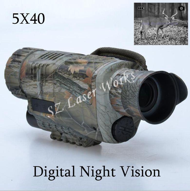 Camouflage digital monokulare infrarot nachtsicht brille 5X40 nachtsicht umfang Dauert Fotos Video mit TFT LCD für jagd