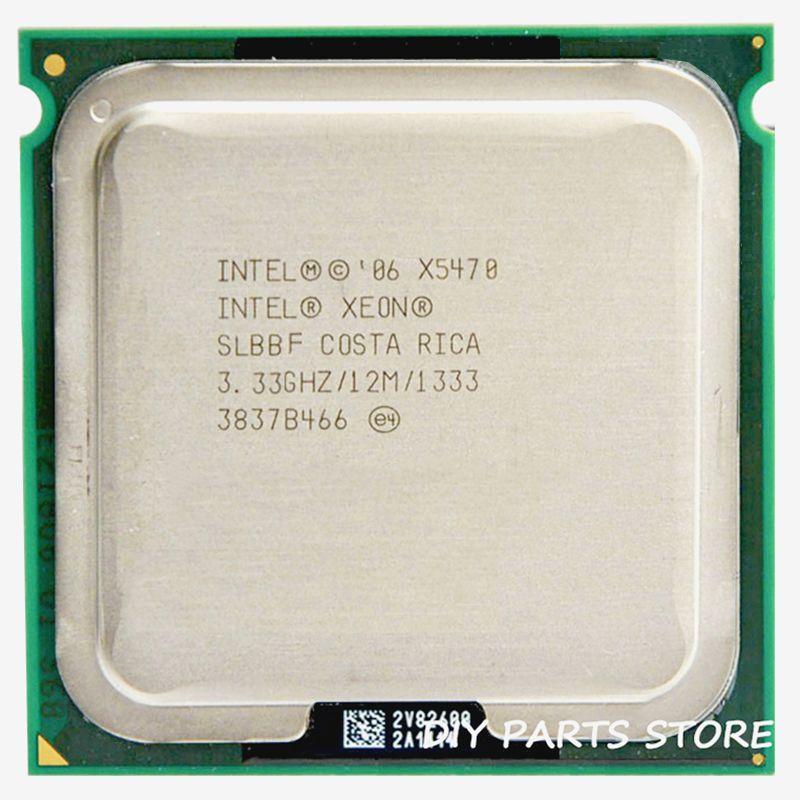 INTEL XONE X5470 cpu INTEL X5470 PROCESSEUR quad core 3.3 MHZ LeveL2 12 M Travail sur 775 avec 2 pcs adaperts