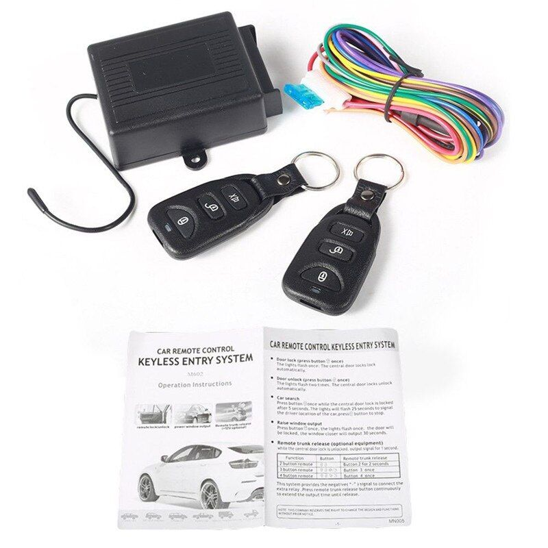 433Mhz Universal remote control central locking Wireless Remote Control Switch DC 12V Car anti - theft car mounted