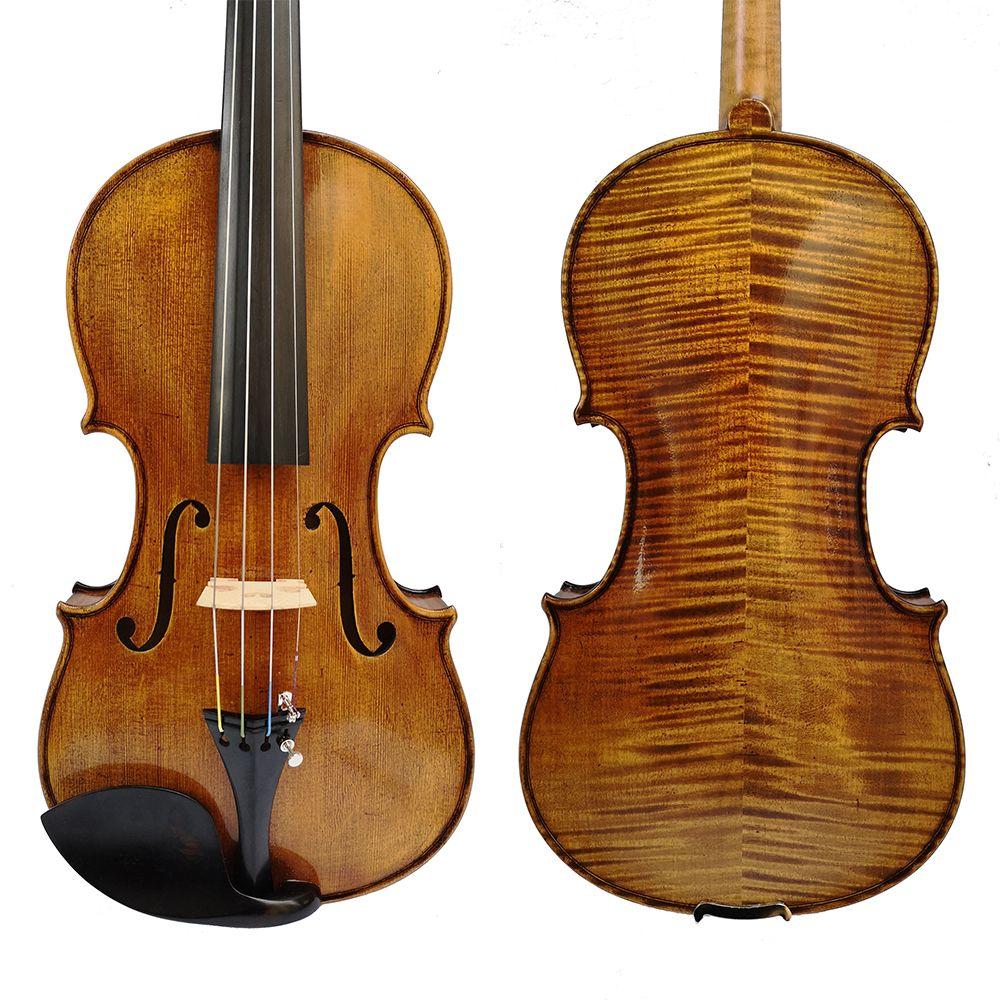 Kostenloser Versand Kopie Stradivarius 1715 100% Handgemachte Öl Lack Violine + Carbon Faser Bogen Schaum Fall violon SK512