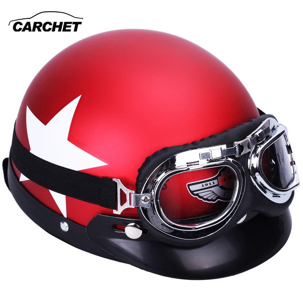 CARCHET moto rcycle Casque Lunettes 55-60 cm De Protection Casques De Sécurité moto Casques cross cascos para moto