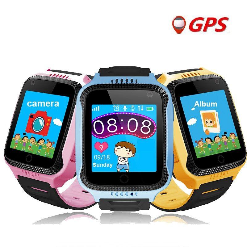 2017 nuevo reloj GPS de seguimiento para niños Q528 Y21 GPS Inteligente reloj Cámara Linterna Bebé Reloj Pantalla táctil Llamada SOS Ubicación niños