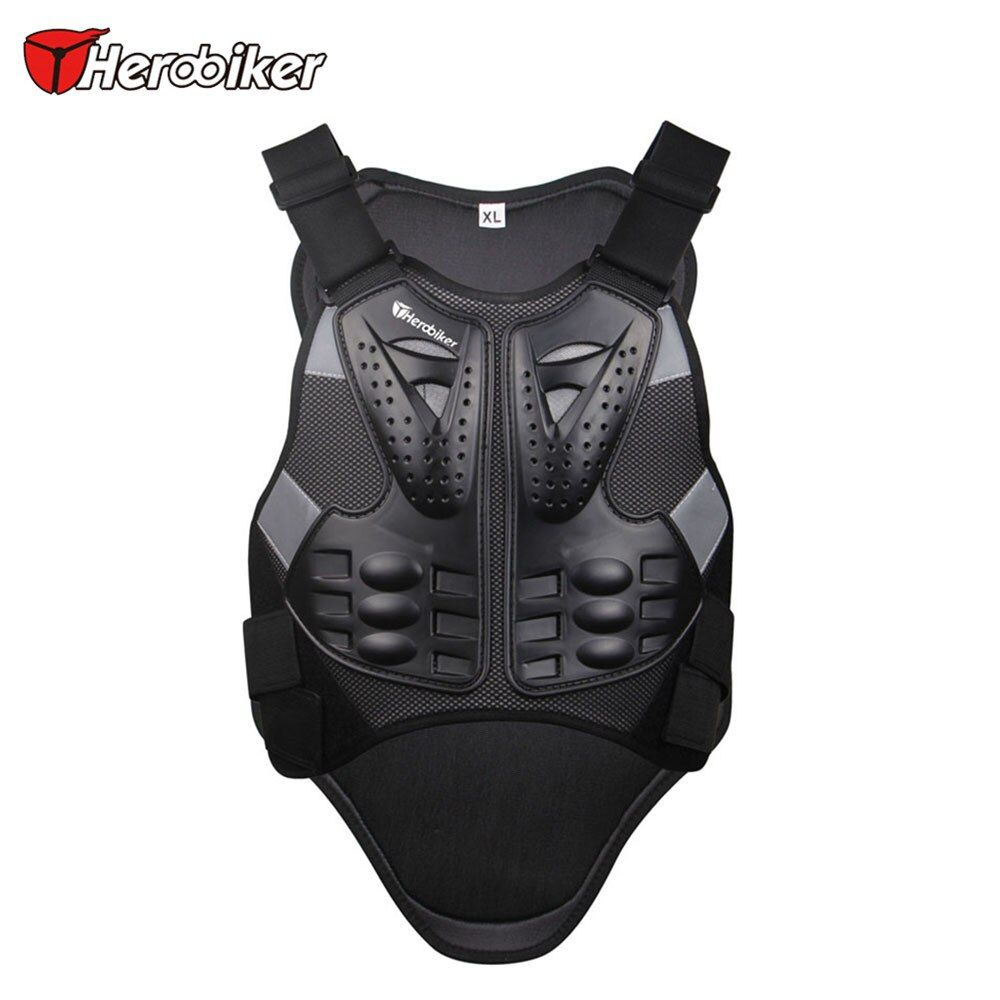 HEROBIKER Motocross Racing Armor Black Motorcycle Riding Body  Protection Jacket With A Reflecting Strip Motorcycle Armor