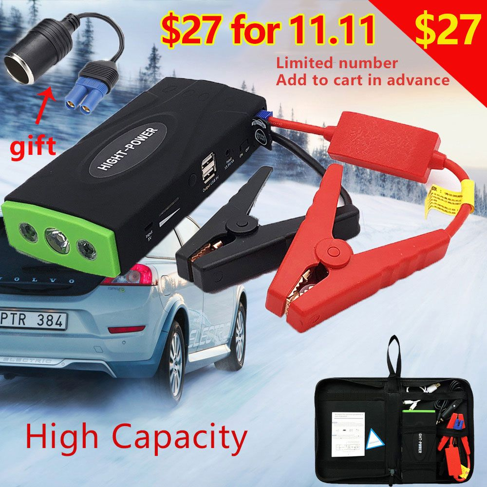 Mini Emergency Car Jump Starter 38000mAh Portable Power Bank Vehicle Battery Charger 12V Startup Power for car Starting Device