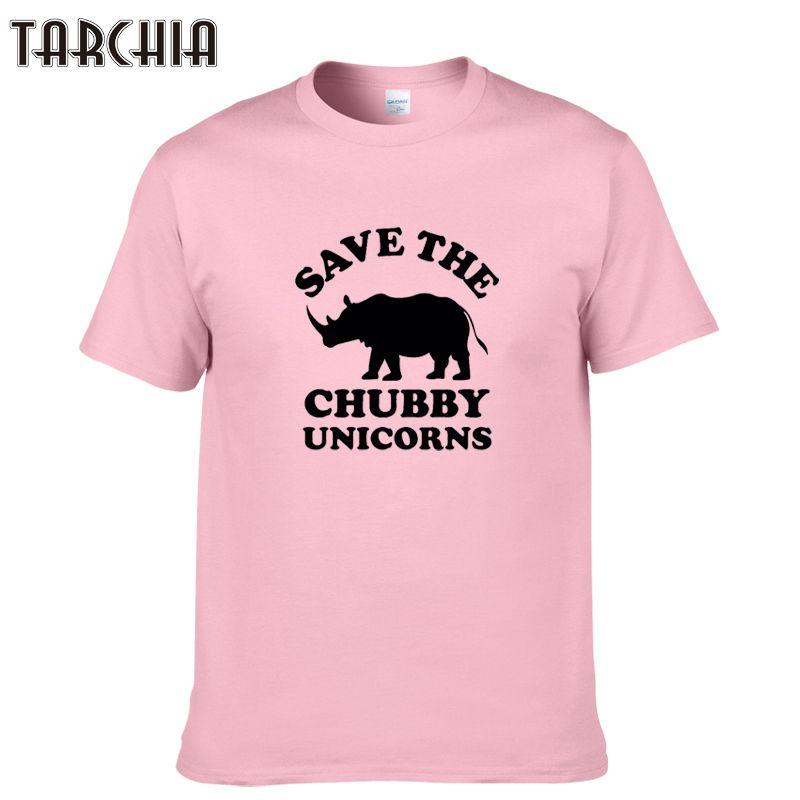 TARCHIA 2019 mode sommer sparen chubby unicorns t-shirt baumwolle tops tees männer kurzarm jungen casual homme t-shirt t shirt plus