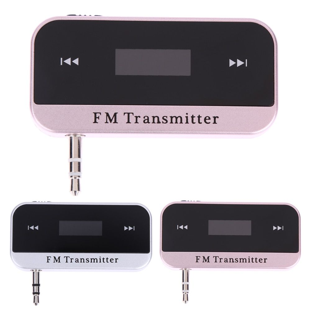 VODOOL Car Radio FM Transmitter Wireless Music Audio Player for 3.5mm MP3 Phones Tablets High Quality Bluetooth Car Kit