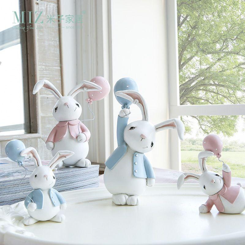 Миз 1 пара смолы куклы озорные кролики милый зайчик Стол Аксессуар игрушка в подарок для детей домашнее украшение Детская комната Декор