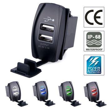 USB Автомобильное Зарядное устройство Разъем Адаптеры питания 5 В 3.1a Универсальный двойной USB гнездо Зарядное устройство для iPhone 5 6 6 S IPad samsung ...