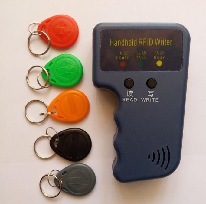 Handheld 125Khz RFID Card Reader Copier Writer Duplicator Programmer ID Card Copy + 5pcs EM4305 each Writable tags