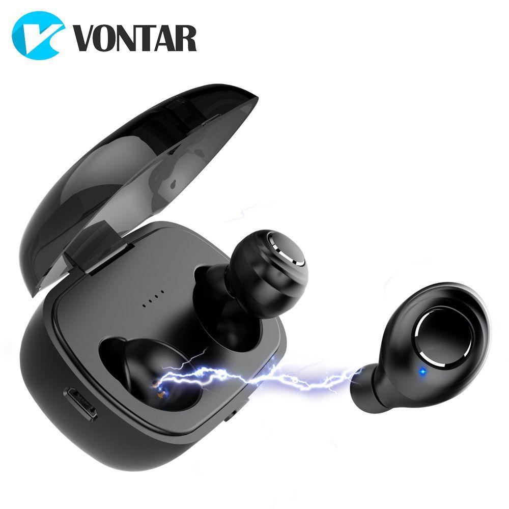 VONTAR X8 Bluetooth 5.0 TWS Sweat proof Mini Wireless Earbuds Twins Earphone in-ear Battery Case Hands Free Headsets