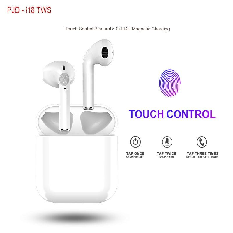 i18 TWS Touch Control Earbuds Mini Wireless Bluetooth Earphones V5.0 True Stereo Headsets with Mic for iphone xiaomi PK i60 i30
