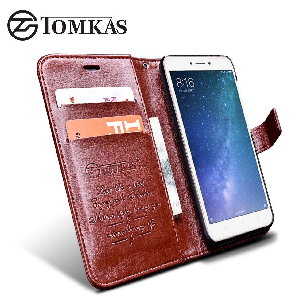 Xiaomi Redmi 4X Cas Couverture TOMKAS D'origine Flip PU En Cuir portefeuille Cas Pour Xiomi Xiaomi Redmi 4X Téléphone Sac Couverture béquille