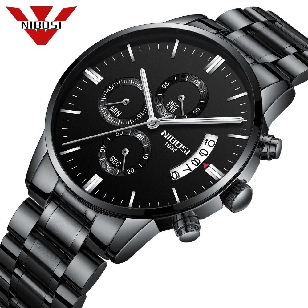 NIBOSI Relogio Masculino Männer Uhren Top-marke Luxus männer Mode Casual Kleid Uhr Military Quarz Armbanduhren Saat 2309