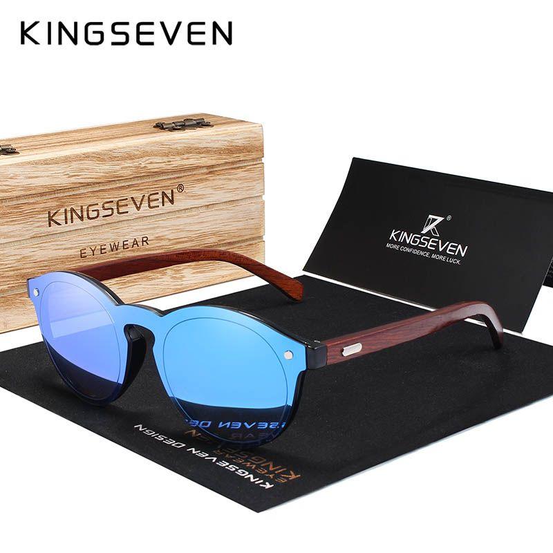 KINGSEVEN DESIGN 2018 naturel fait main bois lunettes de soleil hommes lunettes de soleil femmes marque Design Original palissandre lunettes Oculo