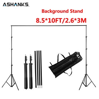 ASHANKS 2.6M X 3M/8.5*10ft Pro Photography Photo Backdrops Background Support System Stands For Photo Video Studio + carry bag