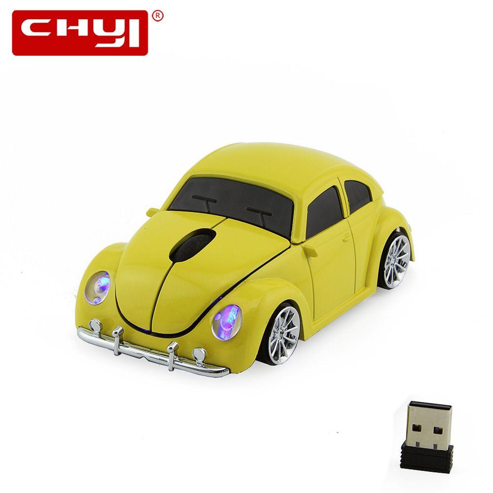 3D Wilress оптическая компьютерная Мышь 1600 Точек на дюйм + USB приемник VW Beetle Мыши компьютерные ошибки Beatles для портативных ПК мода автомобиль форм...