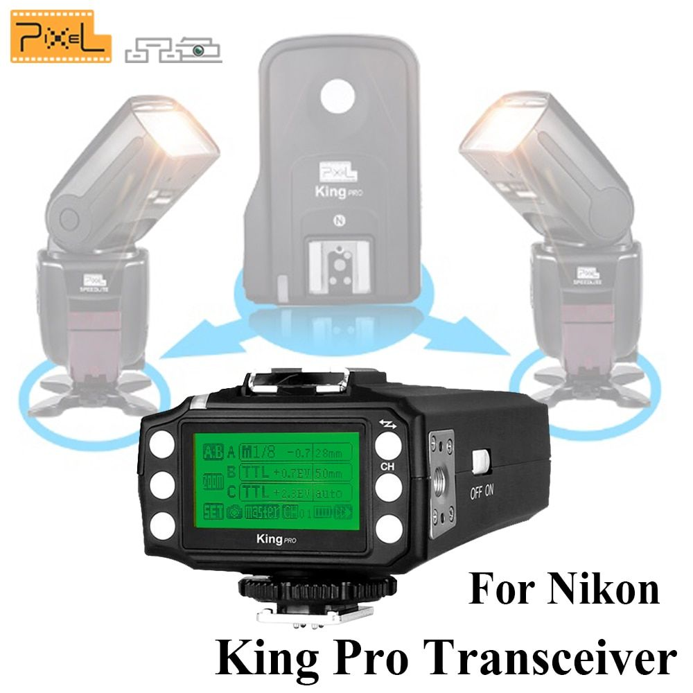 Pixel King Pro Transceiver TTL High-Speed Wireless Flash Trigger Transmitter For Nikon D7100 D7000 D5100 D5000 D3200 D310 DSLR