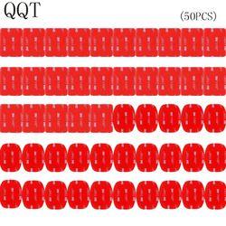 QQT 50 Pcs For Gopro hero 5 4 3 + 3 2 SJ4000 Red 3 M VHB Adhesive Sticker 25 Curve 25 Flat Double Adhesive Tape Mounting helmet