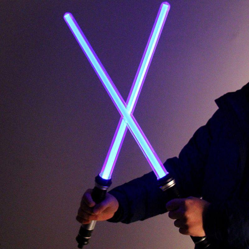 The toy <font><b>Star</b></font> Wars favorite <font><b>Star</b></font> Wars Lightsaber presents the 7 color sword light 2 pieces / sets