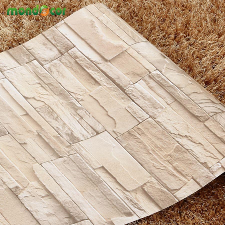 5M/10M Living Room Kitchen Bathroom Waterproof Wall <font><b>Sticker</b></font> Home Decor Removable Vinyl PVC Brick Stone Self Adhesive Wallpaper