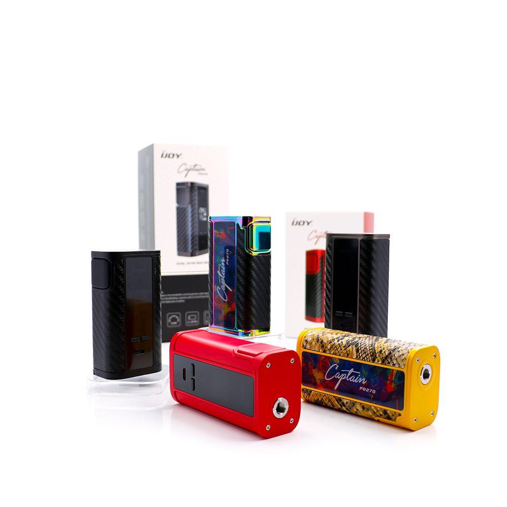 Original IJOY Capitán PD270 TC Caja Mod con doble 20700 PD 270 E caja cig vape kit fit 18650 y 20700 Firmware Actualizable