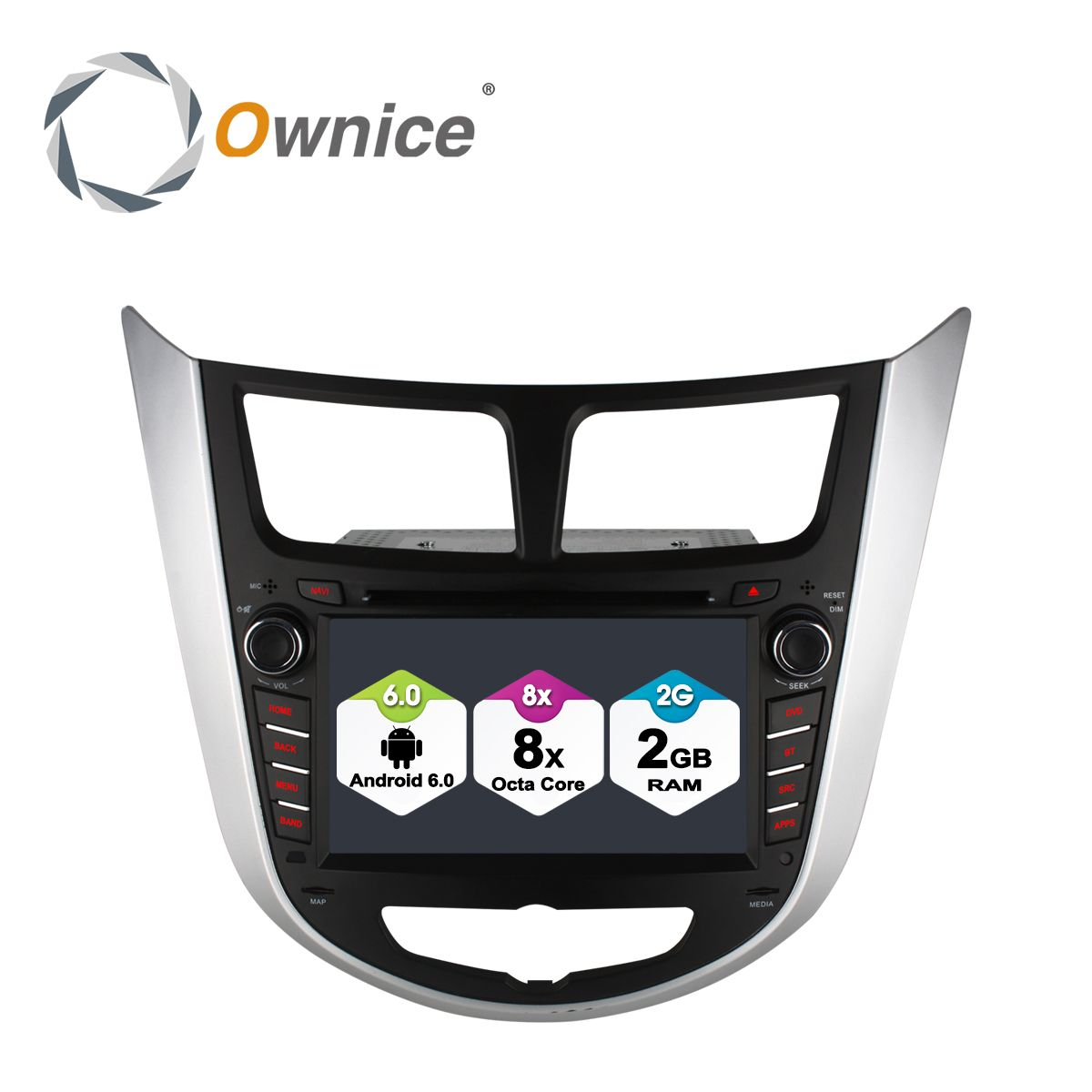 Ownice C500 Android 6.0 2G RAM Octa Core Car dvd gps player for Hyundai Solaris Verna car radio player with wifi 4G LTE Network