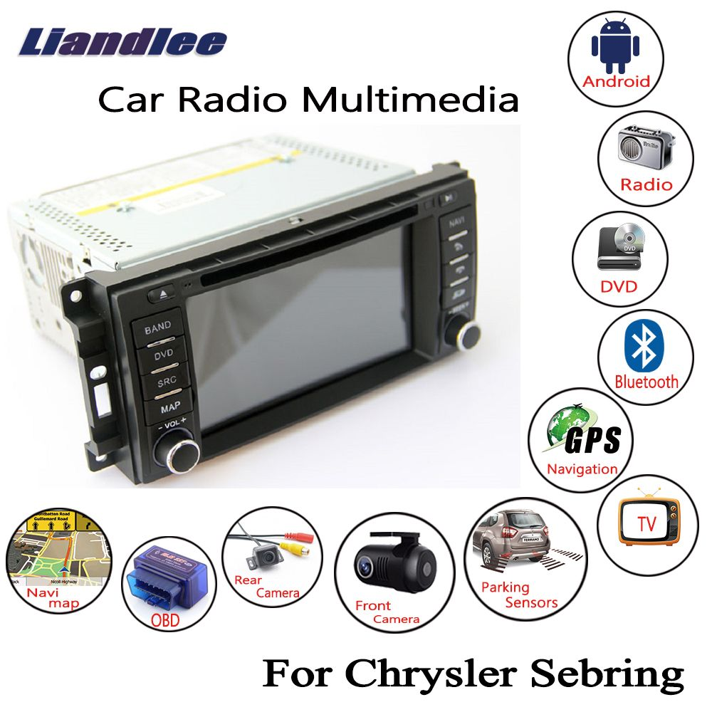 Liandlee For Chrysler Sebring 2007~2010 Android Car Radio DVD Player GPS Navi Navigation Maps OBD Camera TV Screen Multimedia