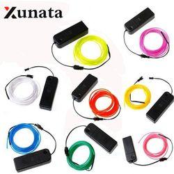 EL Wire 5V USB 3V Battery 12V Powered Flexible led Light strip Tube waterproof Car Party Clothing Wedding el wire + converter