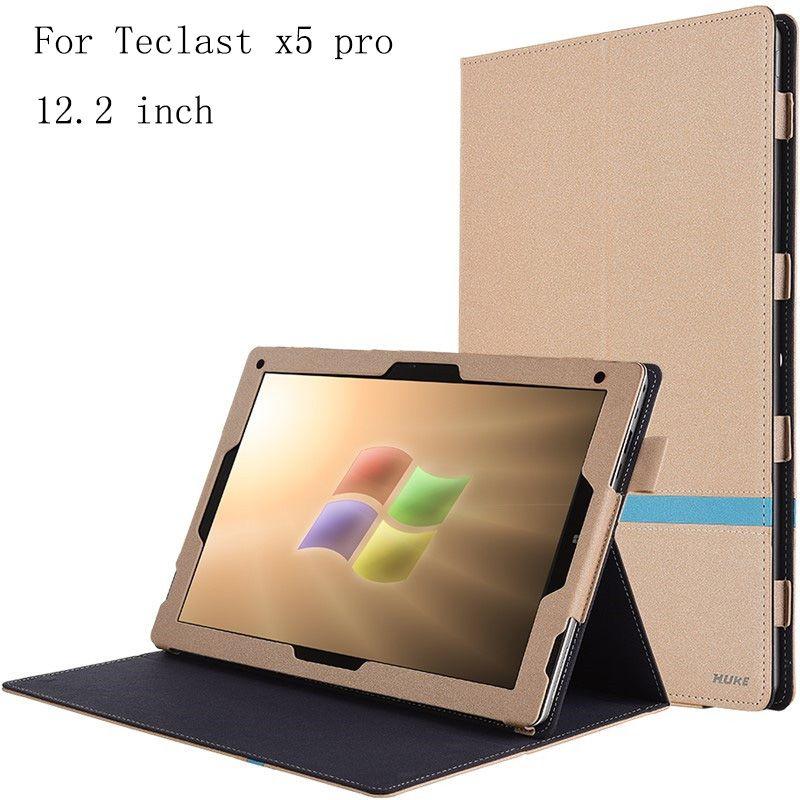 Für Teclast X5Pro Flip Utra Thin Ledertasche für Teclast X5 Pro 12,2 zoll Tablet PC zurück Fall deckung In lager