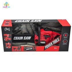 Alat Simulasi Mainan Gergaji Listrik Rantai Berputar dengan Suara Motor Berpura-pura Bermain Mainan Anak Laki-laki Electric Chain Saw untuk Anak-anak- 3