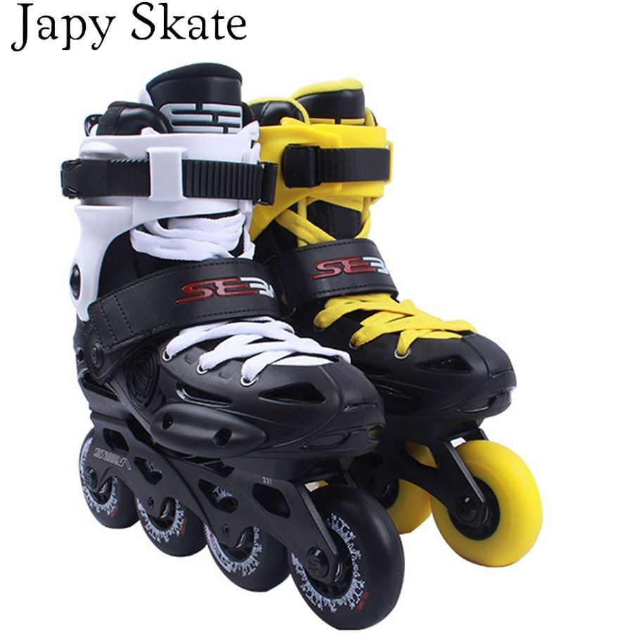 Japy Skate 2017 Original SEBA EB Professional Slalom Inline Skates Adult Roller Skating Shoes Sliding Free Skating Patines