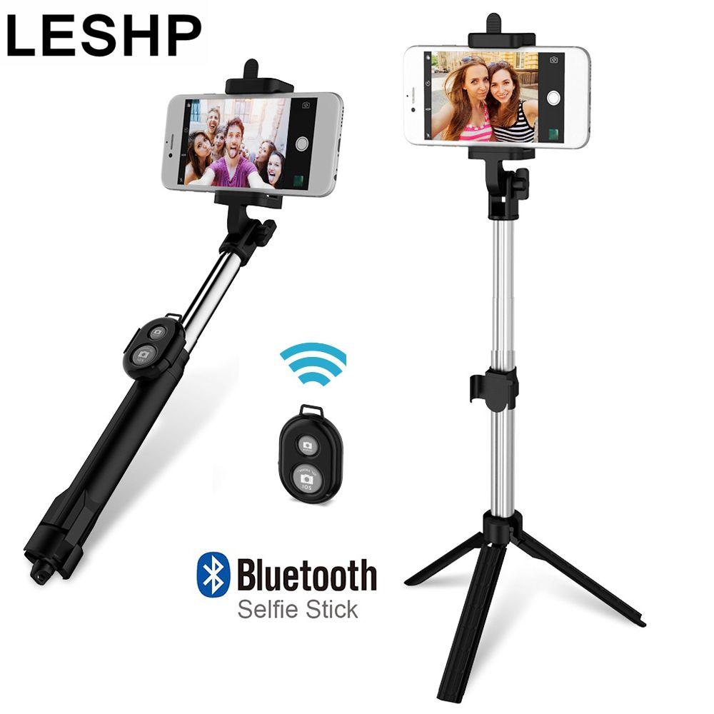 Sans fil BT 4.0 Selfie Bâton Obturateur À Distance De Poche Téléphone Portable Selfie Bâton Manfrotto Trépied pour IOS Android Smartphones