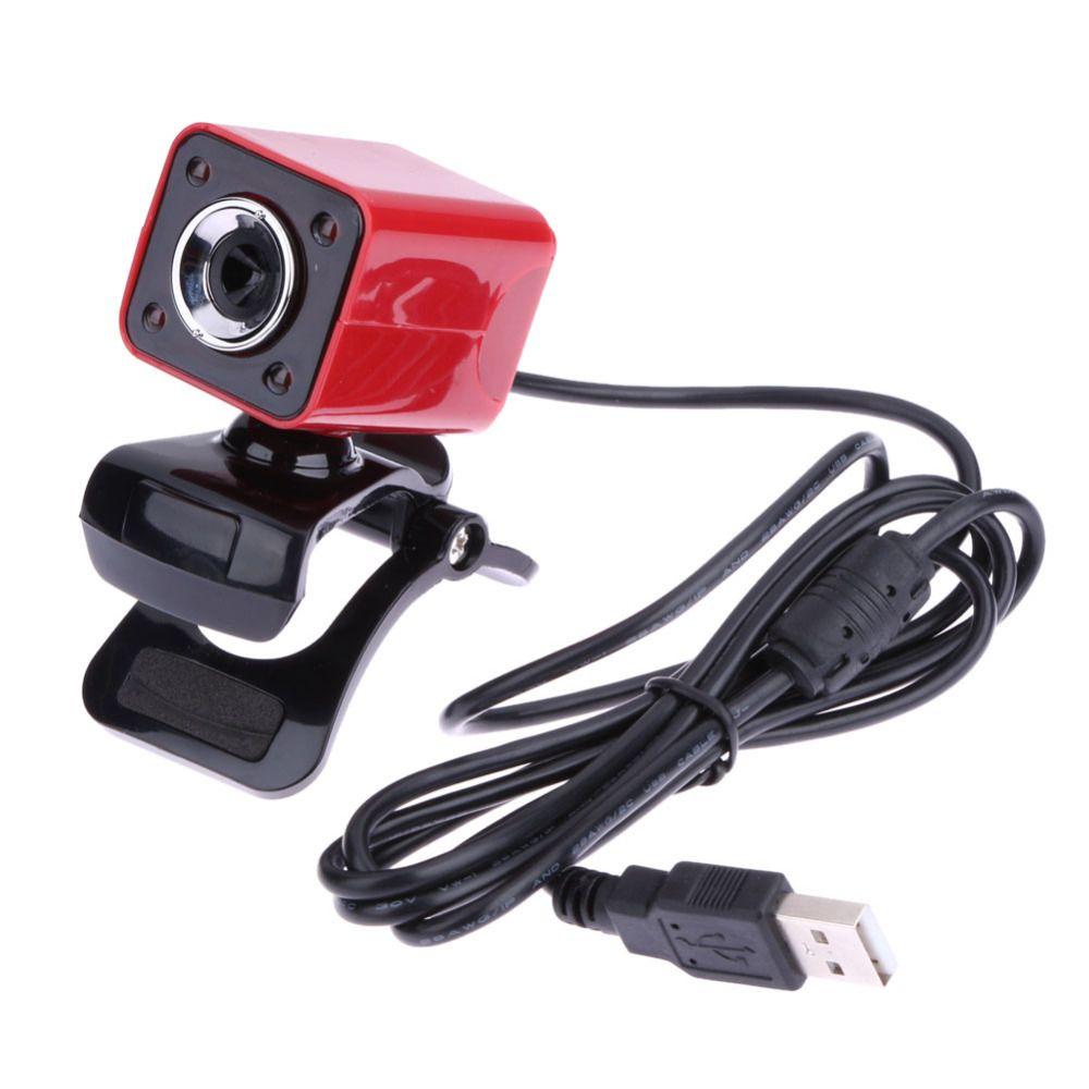 USB 2.0 High Definition Full HD 1080 P 12 Mt Pixel 4 Led-leuchten Computer Webcam 360 Grad Drehbare Web Cam Kamera mit MIKROFON für PC