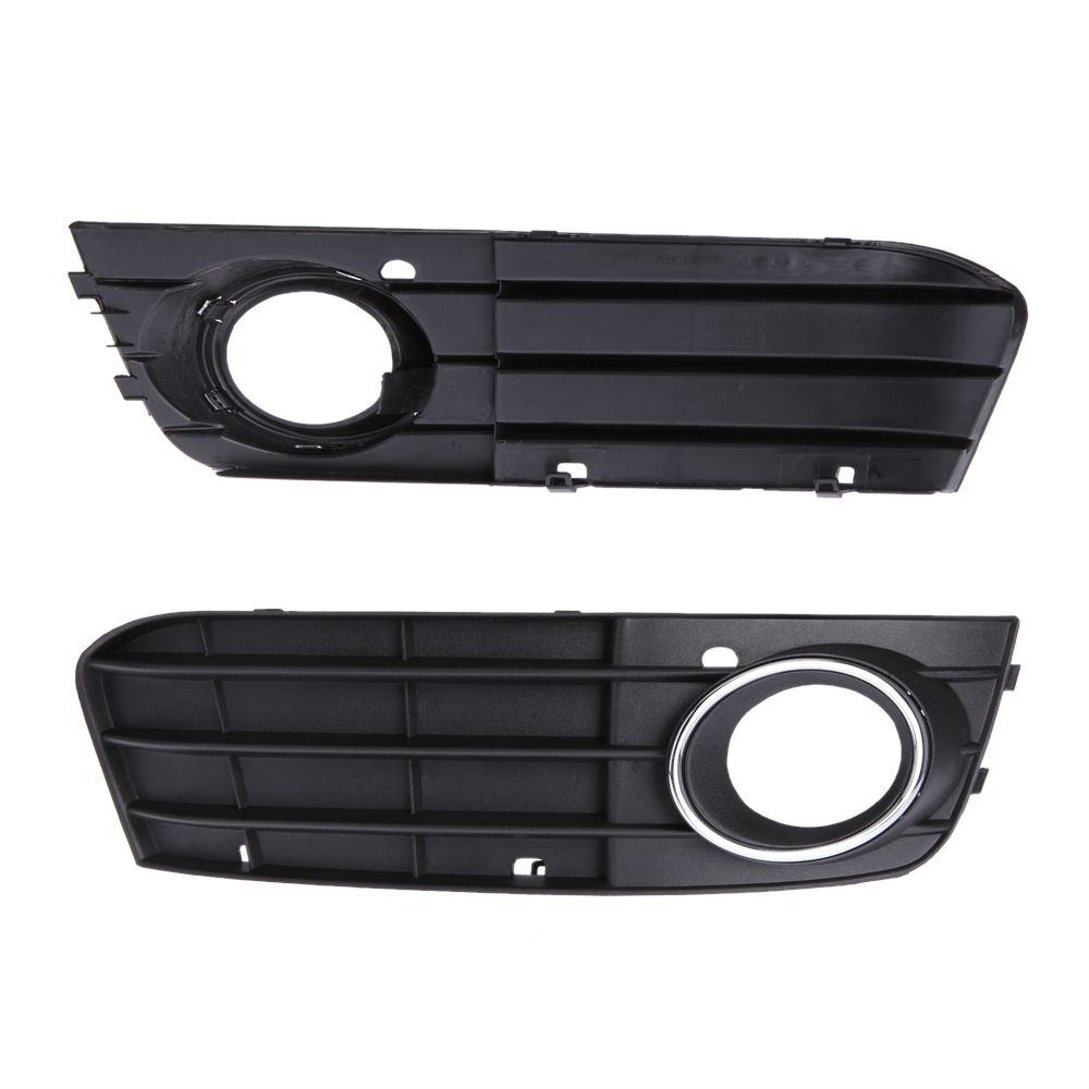 Black Auto Styling Car Grill light Badge Led B8 Bumper Fog Light Grill Grille Non-sline for Audi A4 2008-2012 Left Right