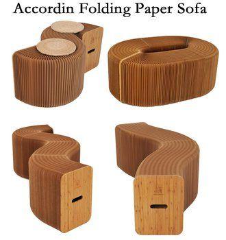 Мебель для дома смягчающий современный дизайн согласно складной табурет из бумаги диван стул крафт-бумага расслабляющий для ног гостиная и...