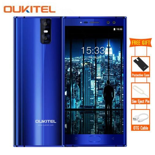 Oukitel K3 4 Cameras 16.0MP+2.0MP 4G Mobile Phone MTK6750T Octa Core 4GB 64GB 5.5
