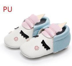 Vente chaude pu cuir à la main Nouveau-Né bébé garçon et filles partie chaussures enfant mocassins Blush angle Licorne boot Bébé doux semelle