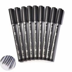 Multi Taille Art Marqueur Stylo D'encre Noir Pigment Liner À Base D'eau pour Dessin Peinture écriture À La Main