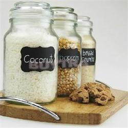 3 hojas/36 unids PVC Pizarras cocina artesanía Adhesivos para JAR organizador puede etiquetas pizarra Decoración para el hogar