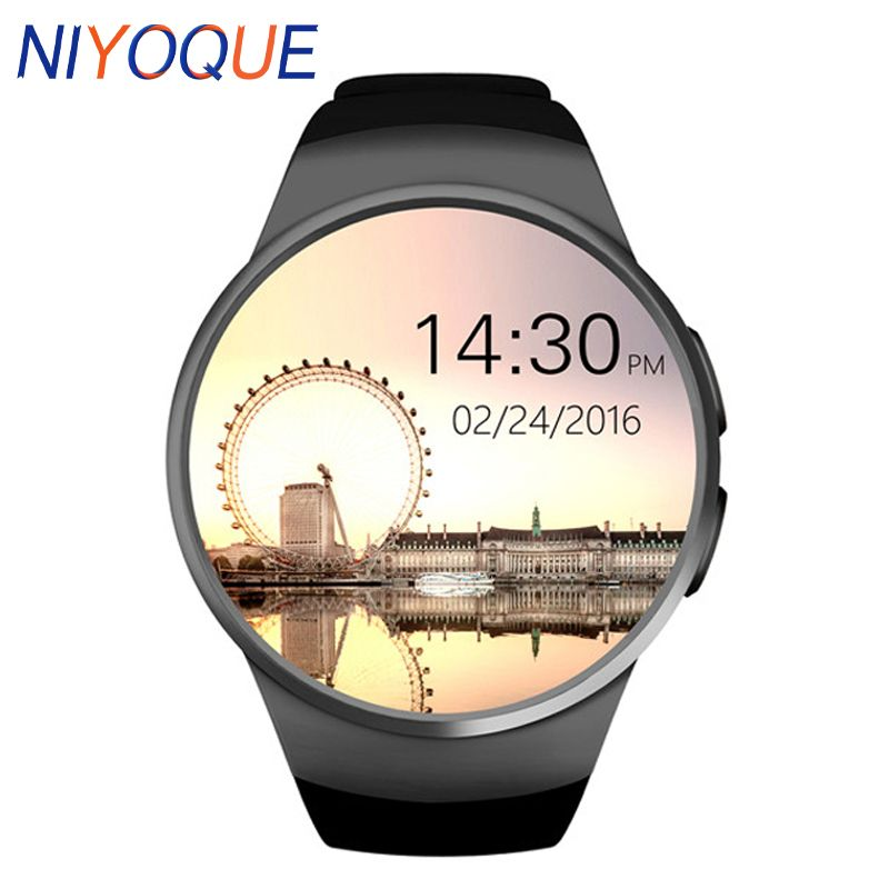 NIYOQUE KW18 Smartwatch Heart Rate Monitor Smart Watch For Apple Samsung Android Pedometer health full round MTK2502C