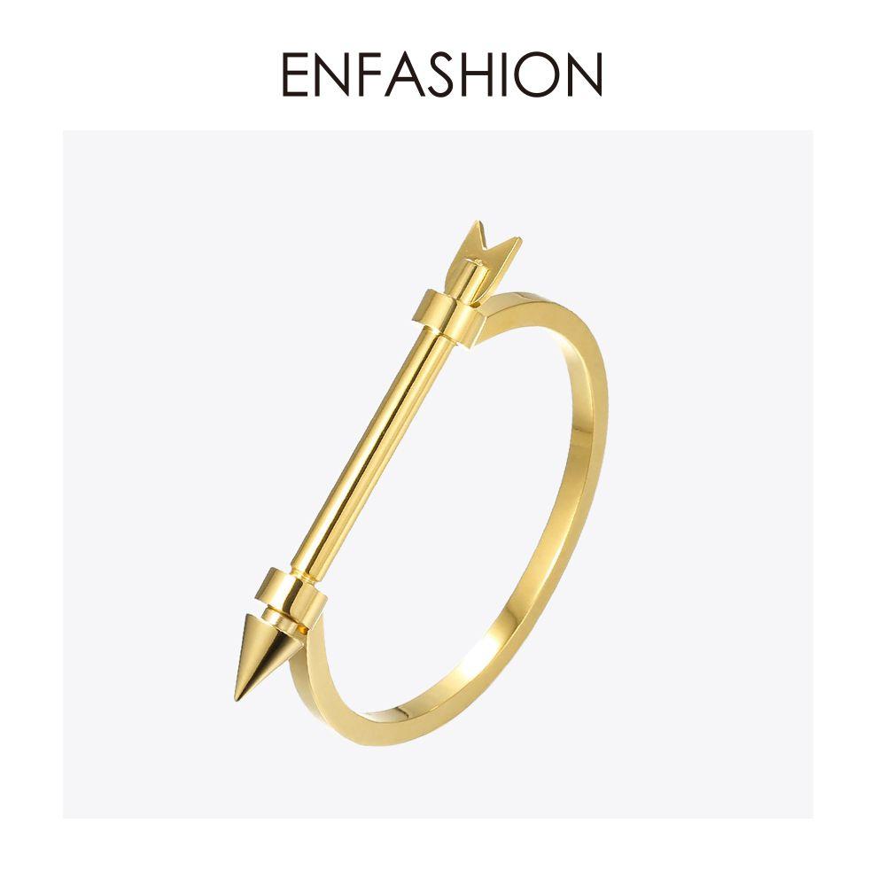 Enfashion flèche Bracelet Noeud brassard couleur or Bracelet pour femmes vis Manchette Bracelets Manchette Bracelets Pulseiras