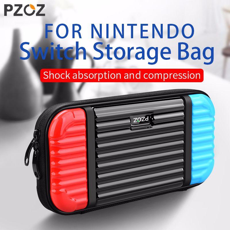 PZOZ Für Nintendo Schalter Schutz Tasche Spielkonsole Lagerung Paket Reise Durchführung Halter Beutel Eingebaute Spiel Box Handtasche Fall