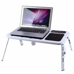 Ordenador de mesa de pie escritorio portátil ordenador ajustable cama Mesa sofá soporte bandeja USB Cool Ventiladores