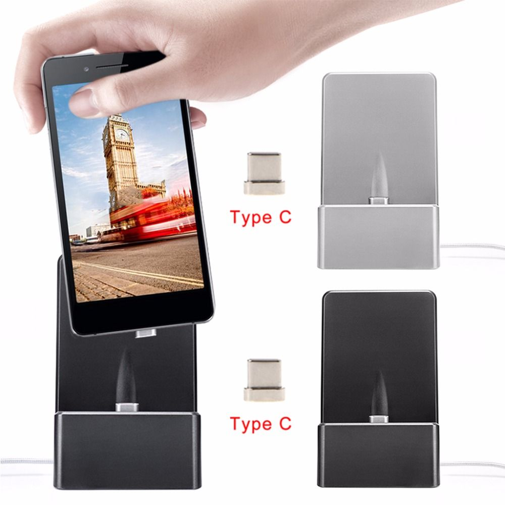 Magnetic USB Type C Connector Charging Station Dock For S8 Note 8 G6 G5 V30 Xiaomi 5 6 Onelus 2 3 5 For Huawei Android Phone