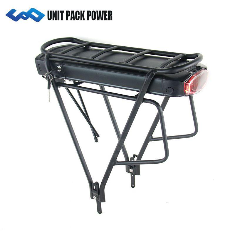 UPP Rear Rack 36V 14.5Ah 17.5Ah E-Bike Battery Samsung Cell 350W 500W EBike Li-ion Battery+Double Layer Luggage Rack