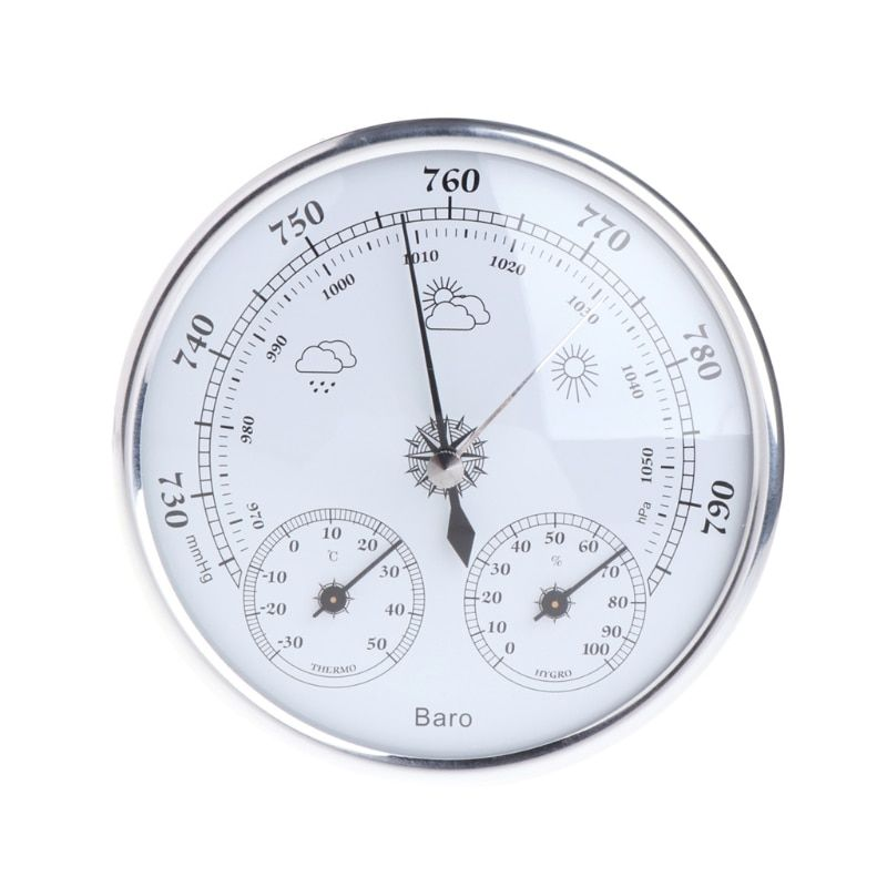 NEW Household Weather Station Barometer Thermometer Hygrometer Wall Hanging  H15