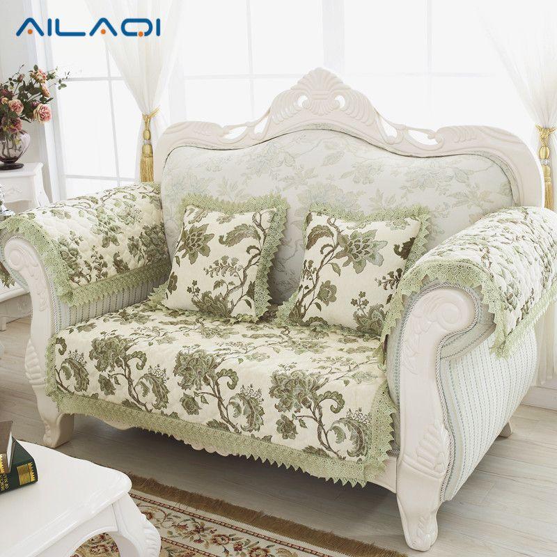 AILAQI Autumn and winter thick warm chenille plush European - style high - grade anti - skid cloth sofa cover
