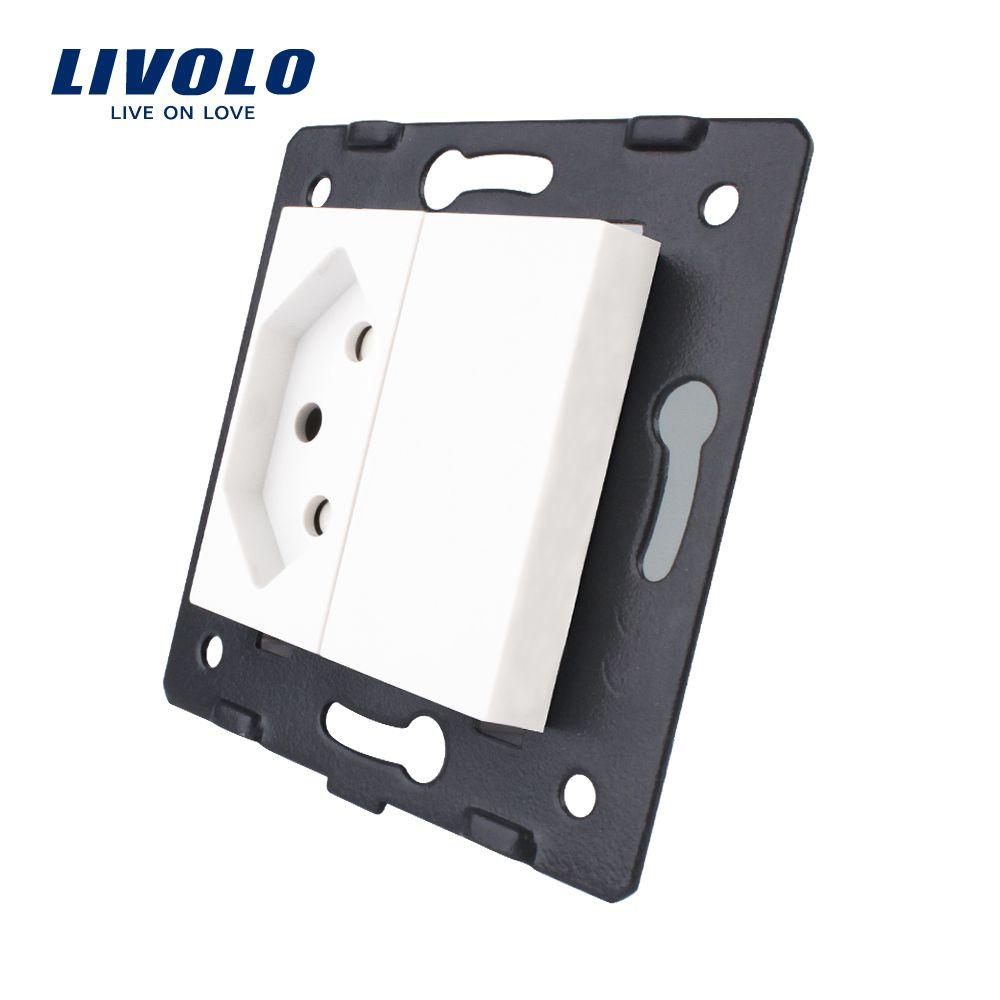 Livolo Buchse DIY Teile, Weiß Kunststoff Materialien, EU standard Schweiz Buchse Funktion Schlüssel Für EU Steckdose, VL-C7-C1CH-11