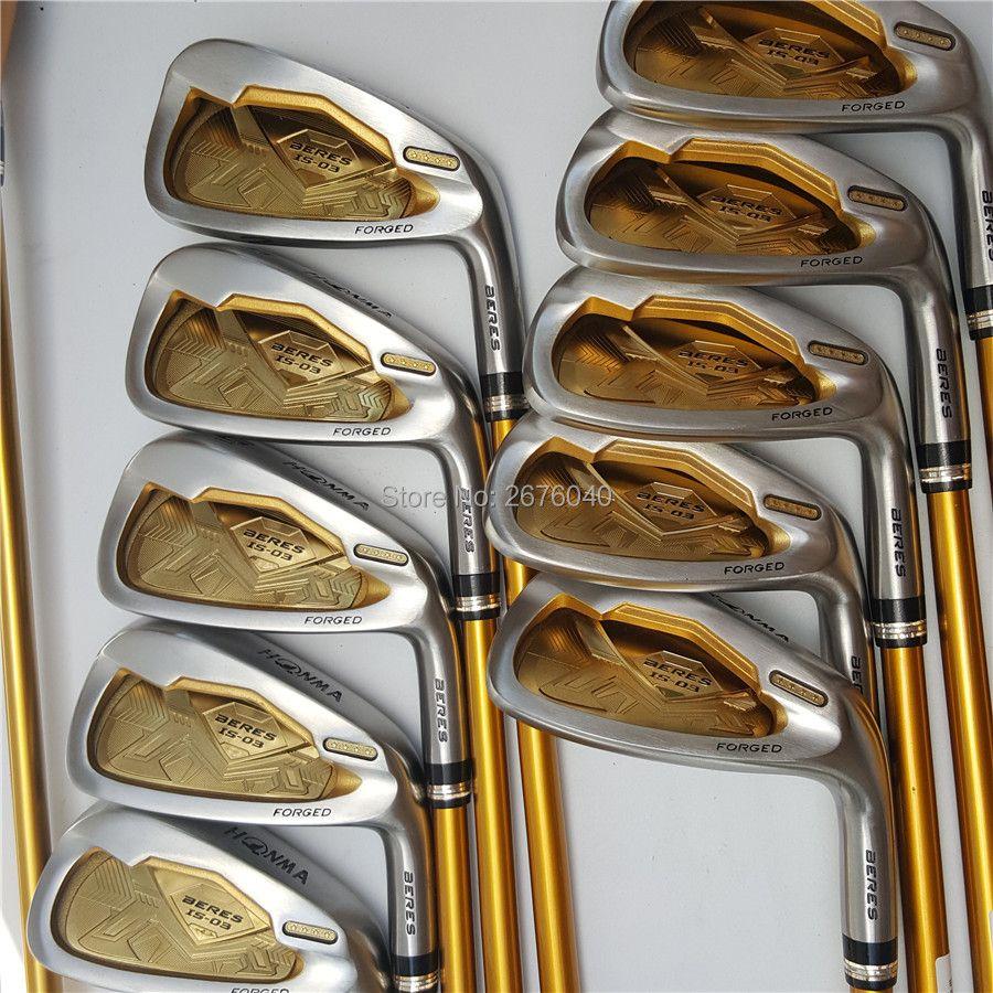 Golf Clubs honma s-03 4 sterne GOLF irons clubs set 4-11Sw.Aw Golf eisen club Graphit golfschaft R oder s-flex Kostenlose verschiffen