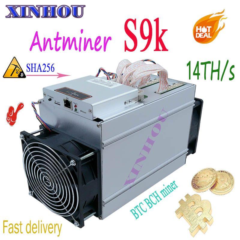 NEUE BTC BCH Miner AntMiner S9K 14TH/s SHA256 7nm Asic Besser Als S9 T9 Z9 Z11 S17 T15 t17 T3 A9 WhatsMiner M3 M3X Ebit E9i E10